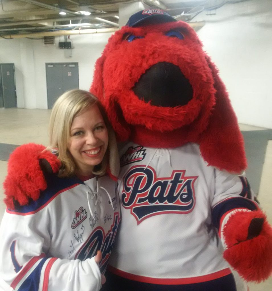 With Regina Pats K9 mascot