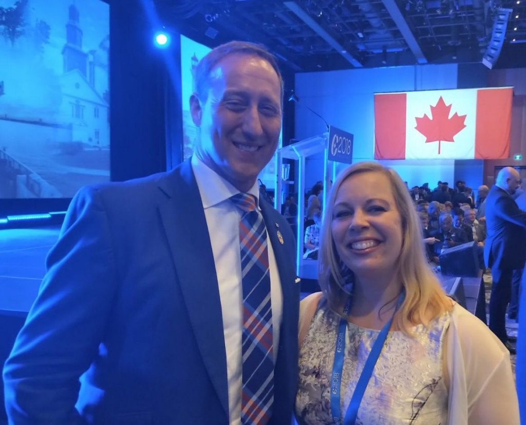 With Peter MacKay, Conservative National Convention 2018, Halifax